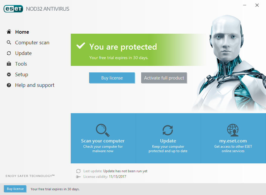 uninstal ESET NOD32 Antivirus 10 or good