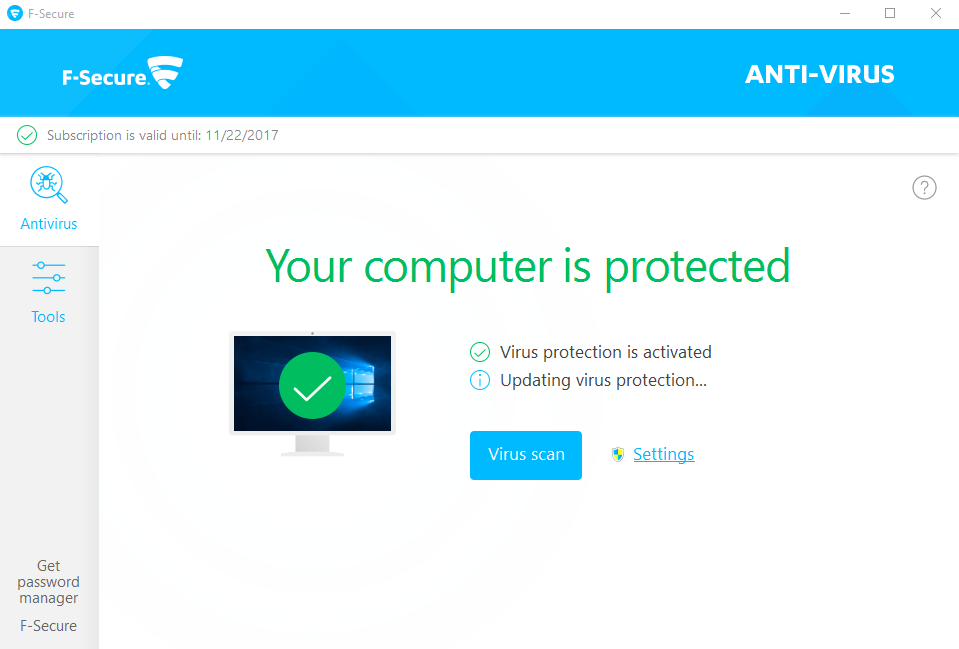 uninstall F-Secure Antivirus