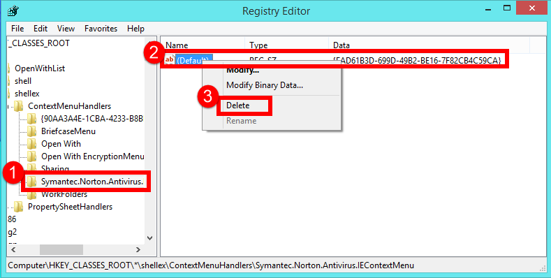 registry folders