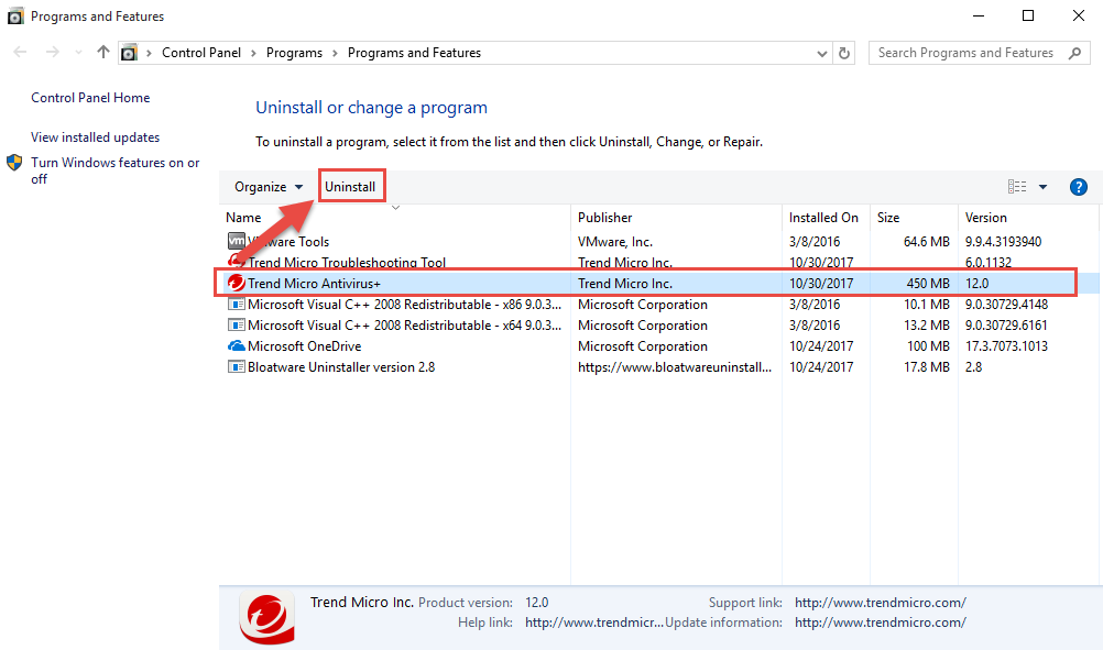 remove_TrendMicro_Antivirus_Security