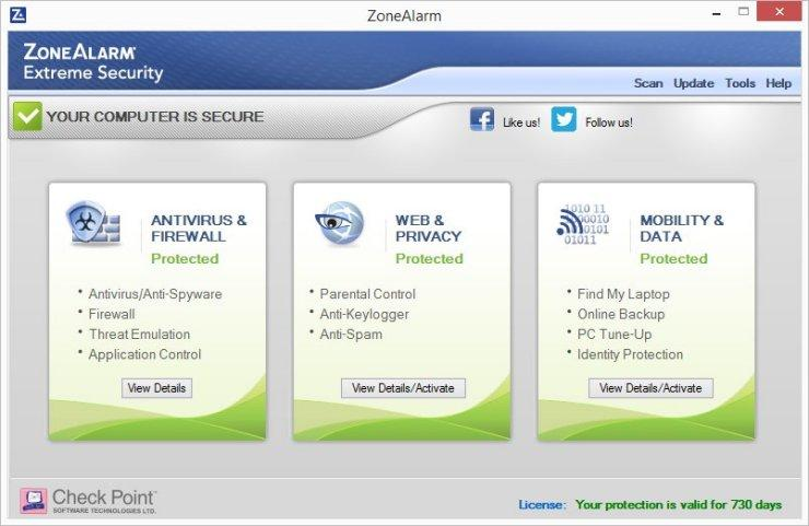 uninstall ZoneAlarm Security