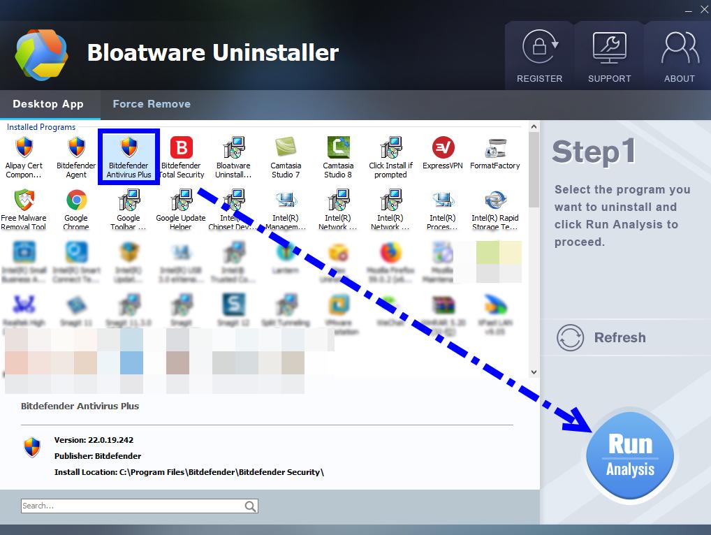 Completely Remove Bitdefender Antivirus Plus 2018 from Windows
