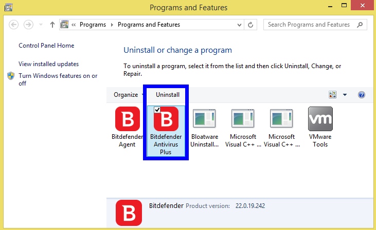 Completely Remove Bitdefender Antivirus Plus 2018 from