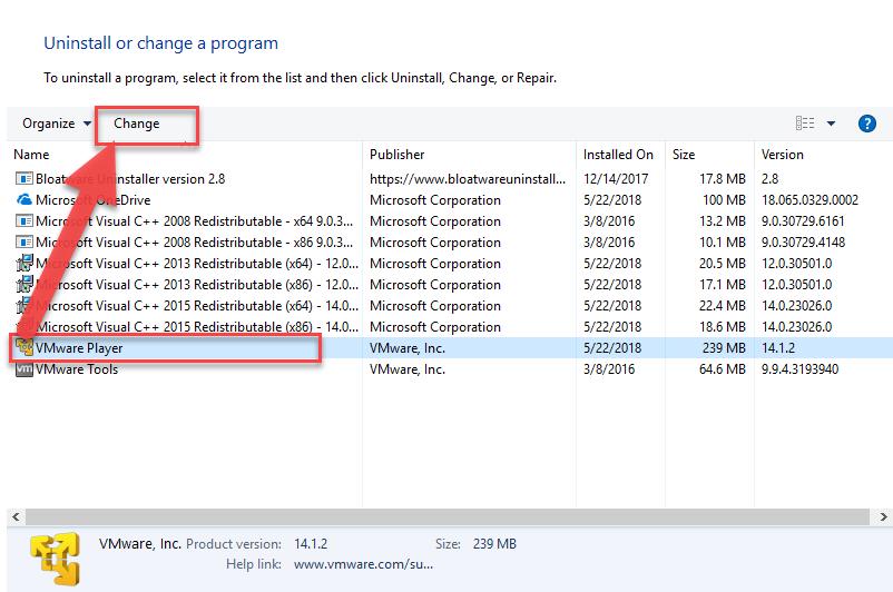 remove_VMware_Player1