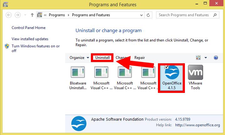 openoffice windows 8.1