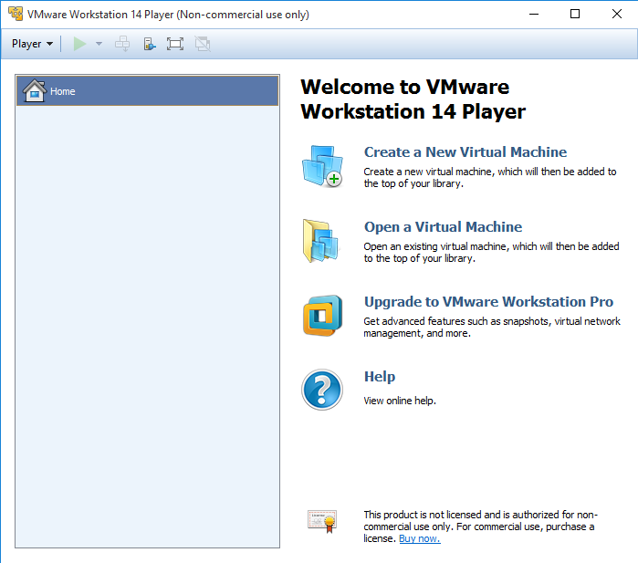 uninstall VMware Player