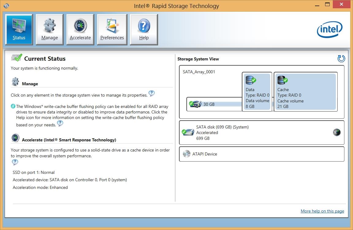 intel rapid storage technology driver windows 7 64 bit dell