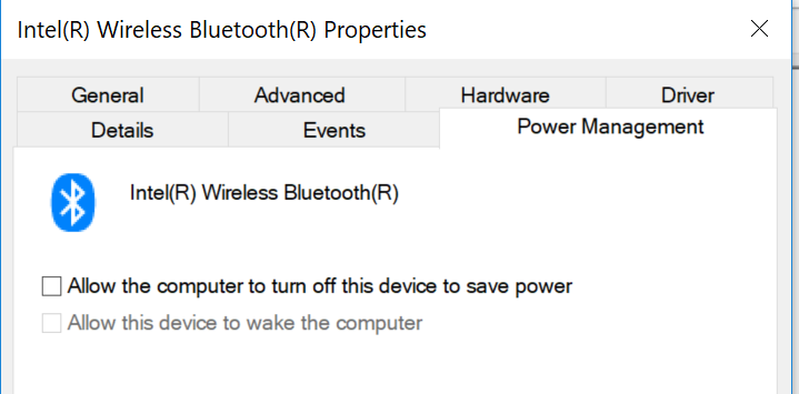 Unable to Remove Intel Wireless Bluetooth