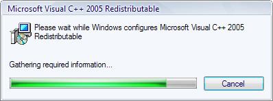 uninstall Microsoft Visual C++2005 Redistributable