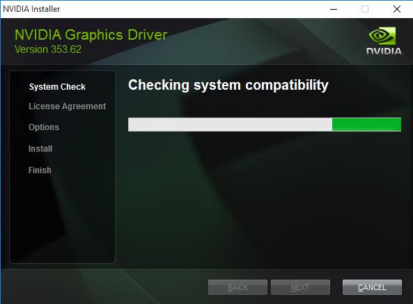 Uninstall NVIDEA Graphics Driver