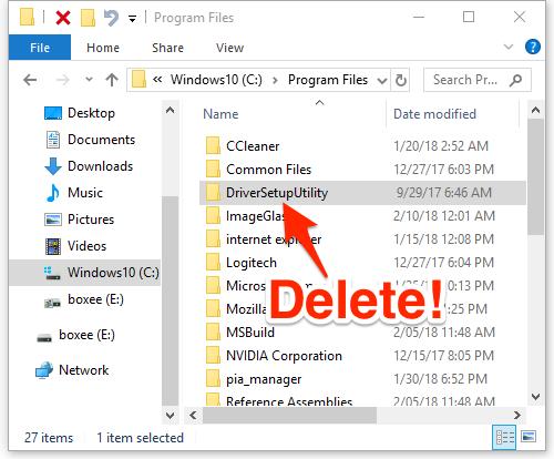 uninstall logitech drivers windows 10