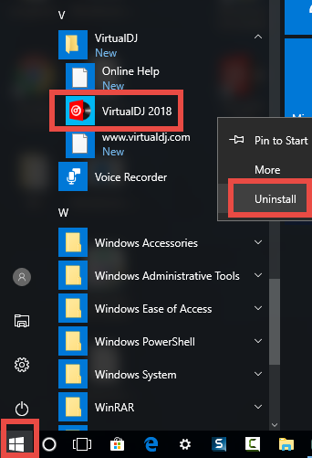 uninstall VirtualDJ (1)