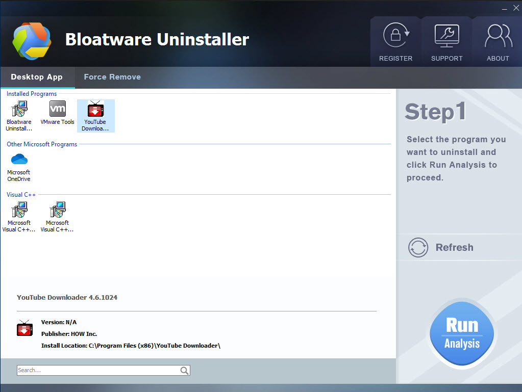 uninstall Free YouTube Downloader