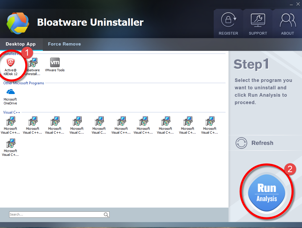 Remove Active KillDisk with Bloatware Uninstaller.