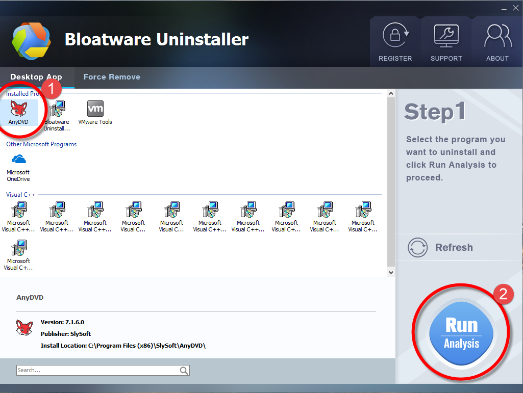 Remove AnyDVD HD with Bloatware Uninstaller