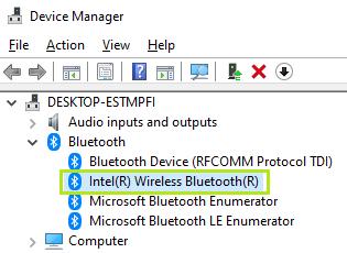 Intel(R) Wireless Bluetooth(R)