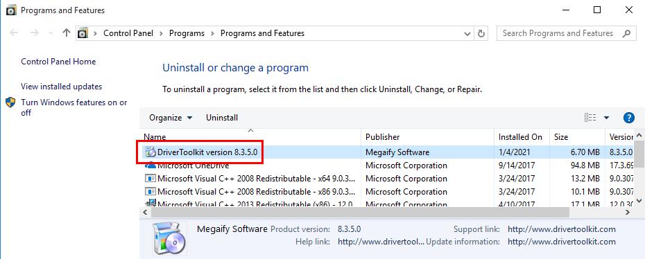 Remove DriverToolkit in Windows