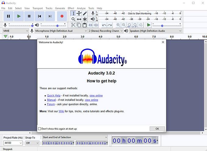 Uninstall Audacity