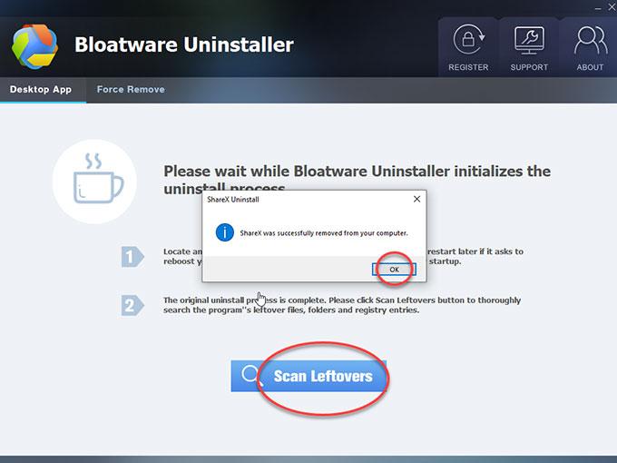 delete ShareX leftovers